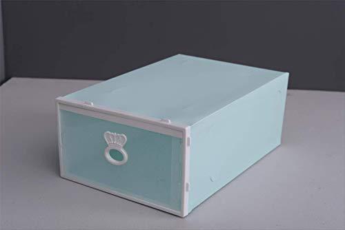 SADDPA Caja para zapatos, caja de almacenamiento para zapatos de plástico apilable para hombres, estilo de cajón, zapatos fáciles de guardar