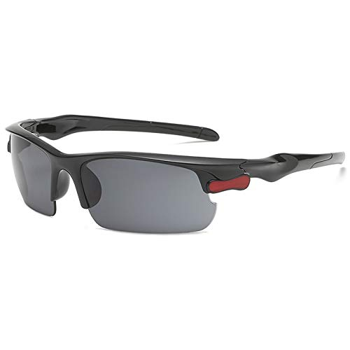 Yakimoto Polarized Sport Sunglasses for Men Women Black Sunglasses Night Driving Glasses, UV400 Protection,Anti-glare, Cycling, Driving, Running, Skiing and Climbing, Trekking or Other Outdoor Activities,Vision is More Clear and Bright