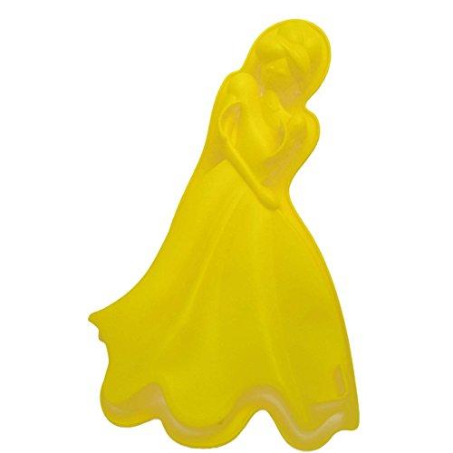 Forma de Silicone Para Doces Torta Pudim Bolo Cozinha Princesa Amarela (sili-9)