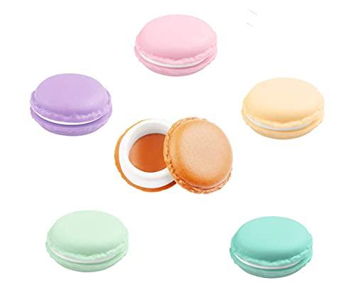YANGWEN 6pcs Macarons Scatola, Cute Mini Macarons la Collana Orecchini Anelli Ring Box Multi Funzione Caso Macaron