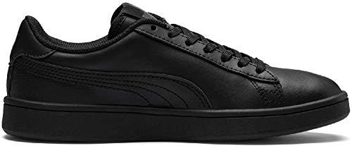 Puma Unisex-Kinder Smash v2 L Jr Sneaker, Schwarz Black Black, 37 EU