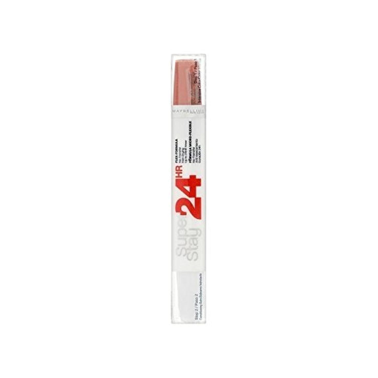 リム検出可能勧告Maybelline SuperStay24H Dual Lipstick 460 Infinite Coral 9ml (Pack of 6) - メイベリン24デュアル口紅460無限サンゴ9ミリリットル x6 [並行輸入品]