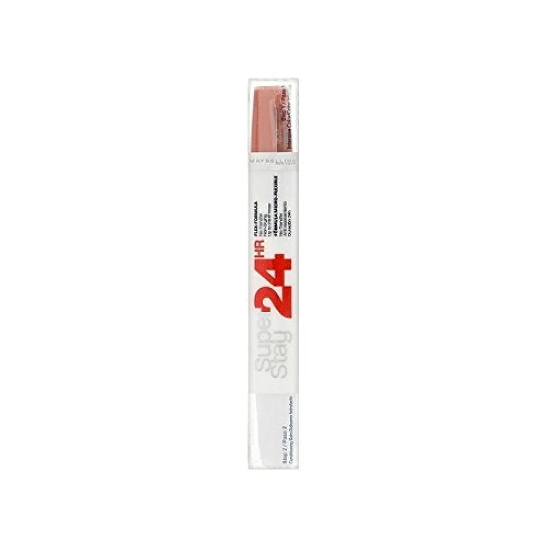 メイベリン24デュアル口紅460無限サンゴ9ミリリットル x4 - Maybelline SuperStay24H Dual Lipstick 460 Infinite Coral 9ml (Pack of 4) [並行輸入品]
