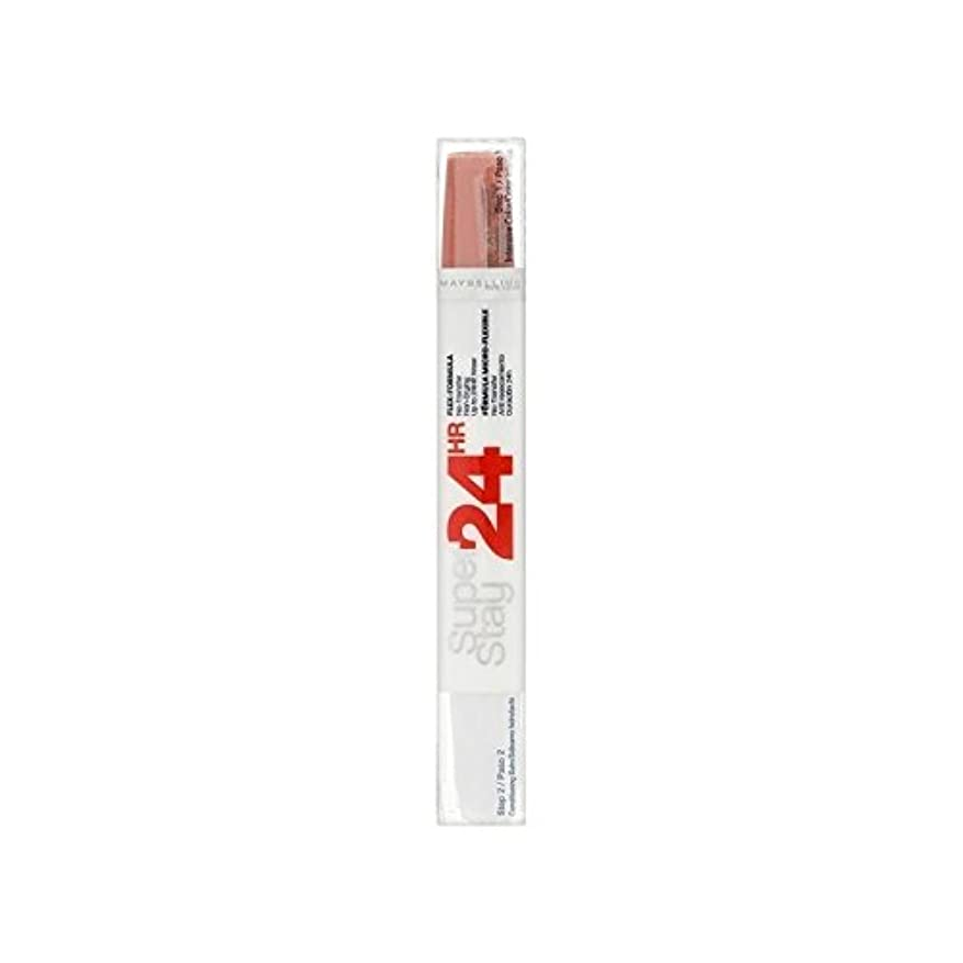 プランター利用可能浮くMaybelline SuperStay24H Dual Lipstick 460 Infinite Coral 9ml (Pack of 6) - メイベリン24デュアル口紅460無限サンゴ9ミリリットル x6 [並行輸入品]