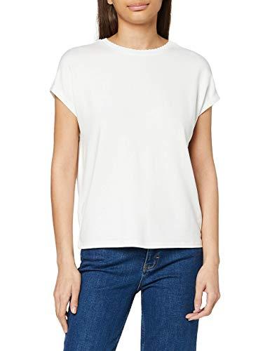 OPUS Sudella Crochet Camiseta, Milk, 36 para Mujer