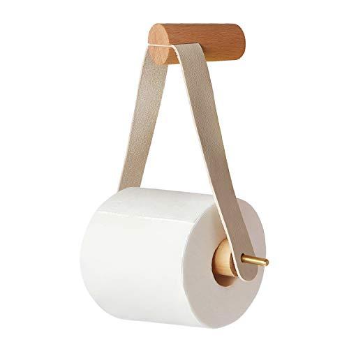 Toilettenpapierhalter,Nordic Kreative Holz Rollenhalter Badezimmer Retro klopapierhalter (Holz)