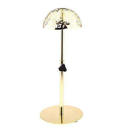 IPOTCH Vintage Support Etagère à Perruque en Métal Base Stand Display de Chapeaux Casquette de Vitrine Display