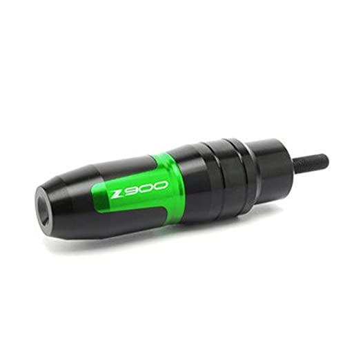 Topes Anticaida para K-AWASAKI Z900 Z 900 2012-2020 Accesorios para Motocicletas CNC Aluminio Crash Pads Escape Sliders Crash Protector con Logo (Color : Green)