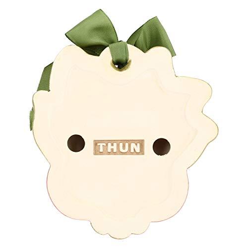 THUN - Formella Sagomata con Fiore Mughetto e Fiocco - Accessori per la Casa - Linea I Classici - Formato Piccolo - Ceramica - 10,5 x 3 x 10 h cm
