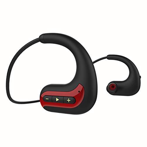 GTJXEY Deportes Auricular Inalámbrico Bluetooth, Usable Jugador MP3 Walkman Auriculares con Micrófono, Construido En La Tarjeta De 8GB TF De Almacenamiento De Memoria para Ejecutar La Gimnasia,C