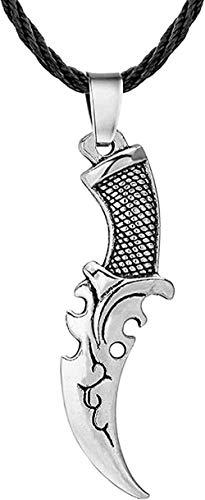 Yiffshunl Collar Vintage Cuchillo eslavo Collar para Mujeres Hombres nórdico Vikingo declaración Colgante Amistad Bar joyería