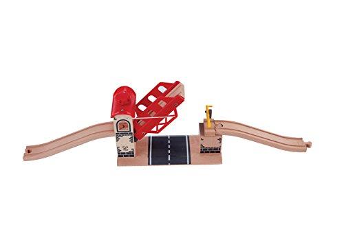 Hape - E3709 - Circuit de Train en Bois - Pont Levis