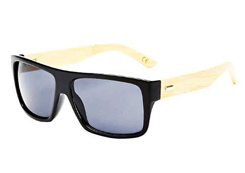 Gafas de sol efecto madera - espejo - hombre - mujer - unisex - espejo - negro - primavera - otoño - invierno - verano