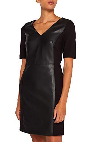 ESPRIT Collection Damen 109Eo1E026 Kleid, Schwarz (Black 001), (Herstellergröße: 34)