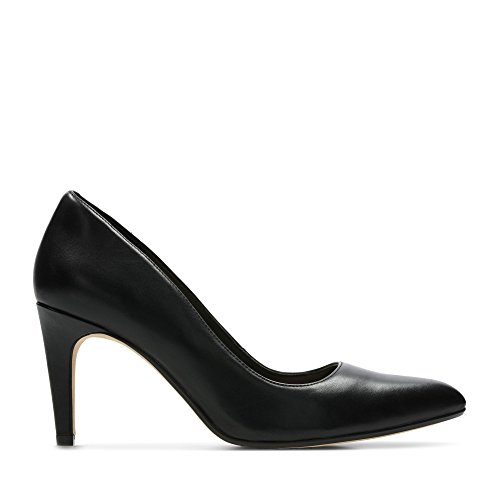 Clarks Damen Laina Rae Pumps, Schwarz (Black Leather), 39 EU