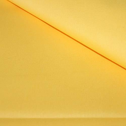 Pingianer - Tela de algodón para niños lisa, 100 % algodón, por metros, artesanía, tela de costura, amarillo claro, 200x160cm