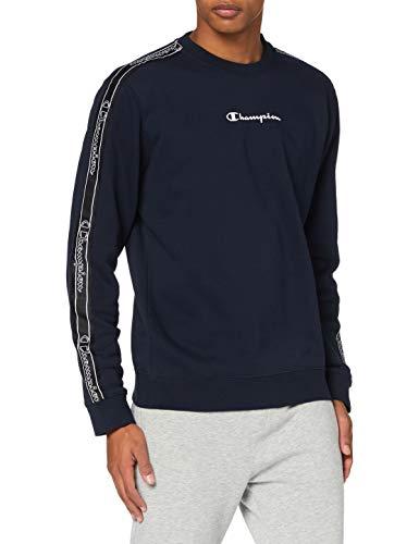 Champion Men's Seasonal Tape Sweatshirt Felpa, Blu (Bs501), S Uomo
