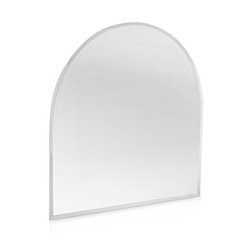 Kamin Funkenschutz Glas Bodenplatte Rundbogen 1000 mm x 1000 mm
