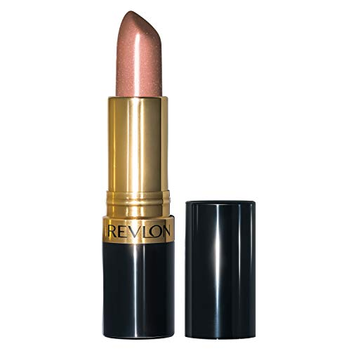 revlon champagnes Revlon Super Lustrous Lipstick, High Impact Lipcolor with Moisturizing Creamy Formula, Infused with Vitamin E and Avocado Oil in Nude / Brown Pearl, Champagne on Ice (205)