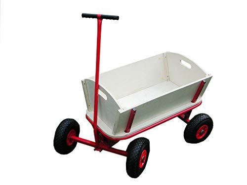 Westerholt Bollerwagen aus Holz mit Luftreifen, Handwagen, Transportwagen