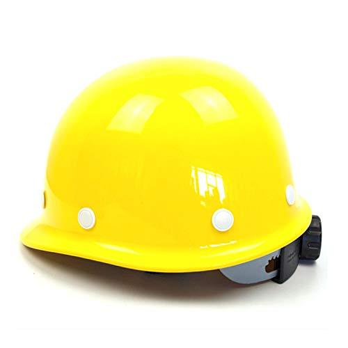 HSJDP Casque de Chantier,Casque Industriel De Sécurité,réglable Circonférence de la tête, 8 Points Cap Liner Soutien, Convient pour la Construction, l'huile,Jaune,140x220
