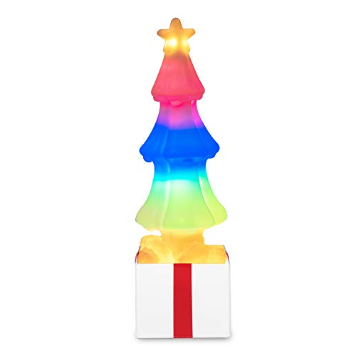 Honorall Christmas Tree Shaped Lamp Dynamic Scintillation Effects USB Direct Charge or Batterys Powered LEDs Bulb Light for Christmas Decorations(batterys not Included)