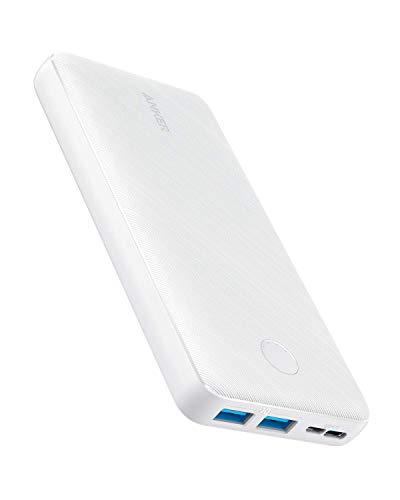 Anker PowerCore Essential 20000 Powerbank, 20000mAh externer Akku mit PowerIQ Technologie und USB-C Eingang, enorme Energiedichte, kompatibel mit iPhone, Samsung, iPad und mehr (Weiß)