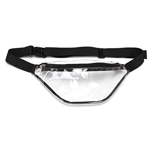 Lazder - Riñonera de PVC Transparente para Mujer