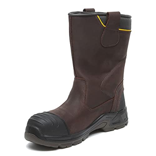 DeWALT MILLINGTON 9 Millington Brown Non-Metallic/Lightweight/Waterproof Rigger Boot, Size 9