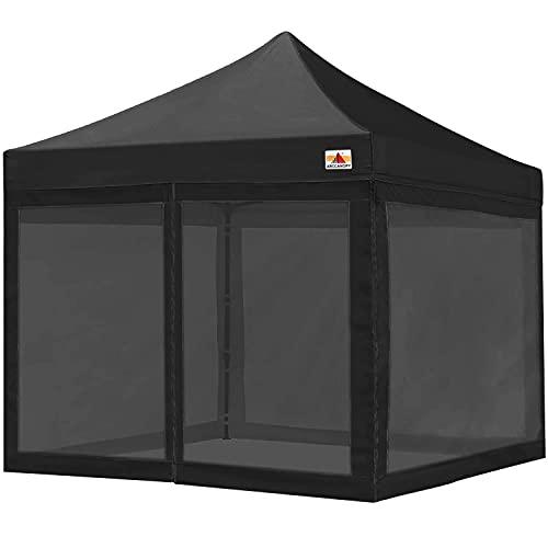 ABCCANOPY Mesh Sidewalls for 10' x 10' Pop-Up Tent Canopy, Black
