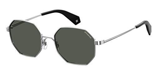 Polaroid Eyewear Pld 6067/S Occhiali da sole Unisex Adulto, Silv Blk 53