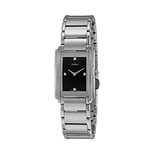 Rado Reloj de Mujer Cuarzo Correa de Acero Caja de dial Negro R20213713
