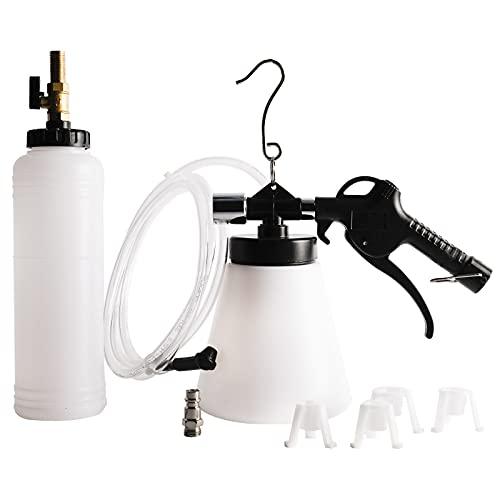 FreeTec Bremsenentlüftungsgerät Druckluft Bremsenentlüfter & Nachfüllflasche