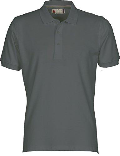 Payper Polo Homme Venice Coton Taille s à 5XL Manches Courtes col 3 Boutons - Cendre - M