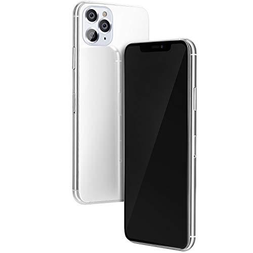 Handy-Attrappe mit Aluminiumrahmen, 1:1, Nicht funktionsfähig, für das Neue Telefon 11 Pro Max Silver BlackScreen