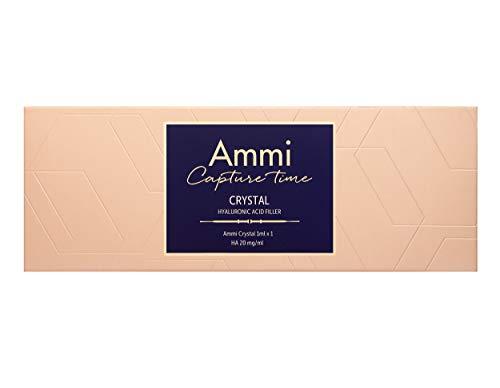 AMMI Relleno de ácido hialurónico Crystal | Certificado CE e ISO | Diseñado en Alemania | 1,0 ml | Tratamiento de arrugas profundas, volumen de labios y contornos