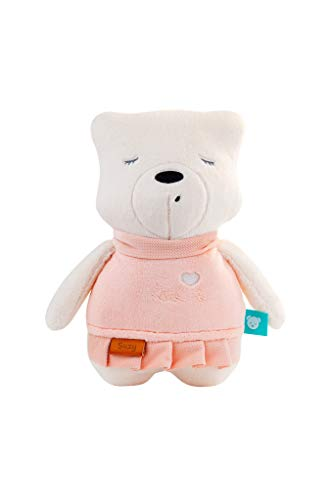myHummy Baby Einschlafhilfe Geräusche Bär Suzy rosa | Herzschlag und weißes Rauschen zur Beruhigung | Automatische Abschaltung | Sleep Aid White Noise Sound Bear for Baby…