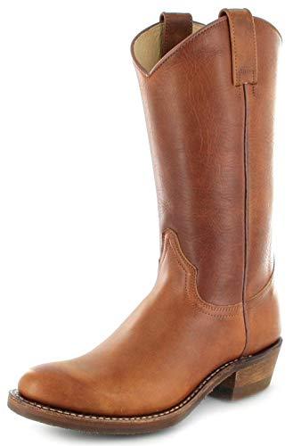 Sendra Boots Damen Cowboy Stiefel 5588 Tang Lederstiefel Braun 39 EU
