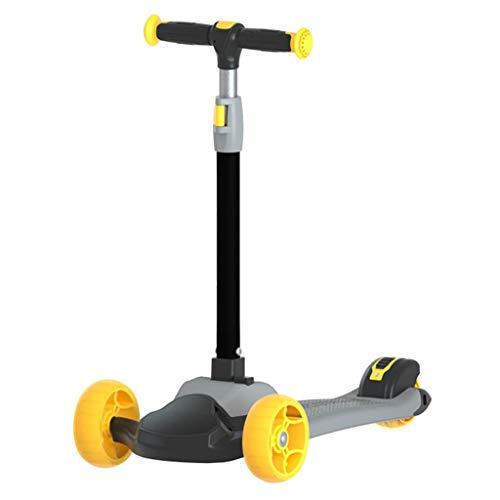 Find Discount Scooter NLIAN- 3 Wheels for Kids, Children Aged 3-14 Boys Girls Flashing Wheels Foldab...