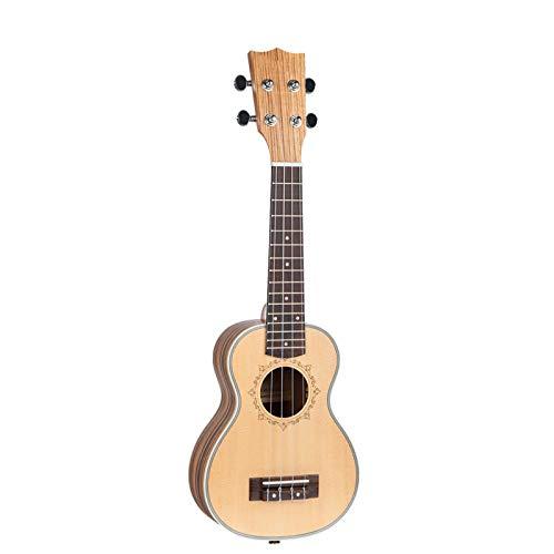 KEPOHK 21 23 26 pulgadas 4 cuerdas Hawaii Guitarra Zebrawood Ukulele, Soprano Tenor ConciertoAcústico Ukelele 21 pulgadas