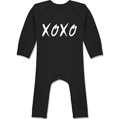 Strampler Motive - XOXO - Hugs and Kisses - 12/18 Monate - Schwarz - Tic-Tac-Toe - BZ13 - Baby-Body...