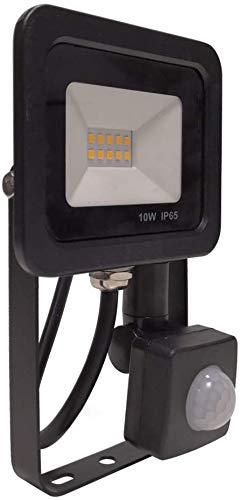 Raelf Cast Off Proyector Luz 10W luz de inundación del LED al aire libre IP 65 Sensor de luz de seguridad impermeables...
