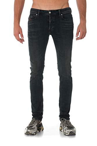DIESEL Uomo - Jeans skinny Sleenker a lavaggio nero - Taglia 34