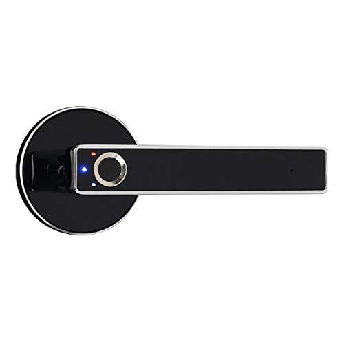 Fingerprint Elektrisches Smart-Türschloss, biometrisches schlüsselloses Eingangstürgriff für Familienbüro (Silber)