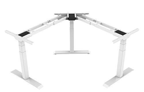 Angelo - Base de esquina para mesa de reuniones, color blanco