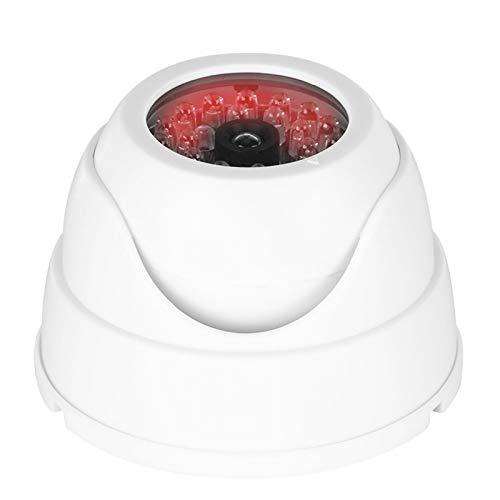 Cámara de vigilancia simulada Cámara de videovigilancia de simulación de plástico ABS Cámara de vigilancia para interiores con 30 LED de infrarrojos simulados para el hogar, la oficina, la