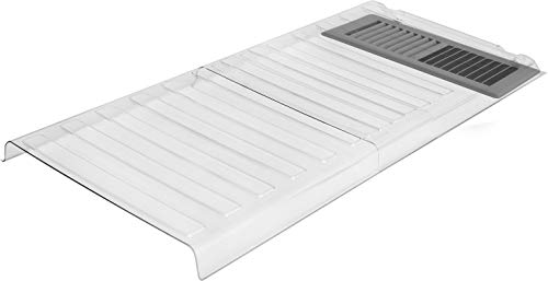 Ventilaider Magnetic Air Vent Extender for Under Furniture, Improved Stronger Plastic Material, Fits Floor Registers Up to 12.9' Wide, Extends Up to 33' Long