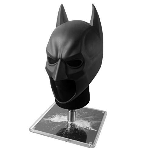 QWEASZER Justice League Dark Knight Batman 1: 1 Maske Helm COS Helm Maske Halloween Ostern Weihnachten Maskerade Parteien tragbare Cosplay Prop Serie,Black-<57cm