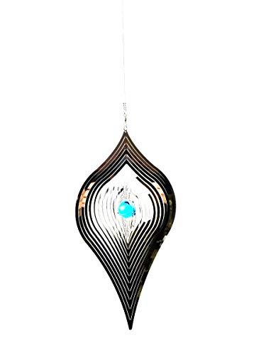 Large Hanging Stainless Steel Garden Wind Spinner Sun Catcher - Kite