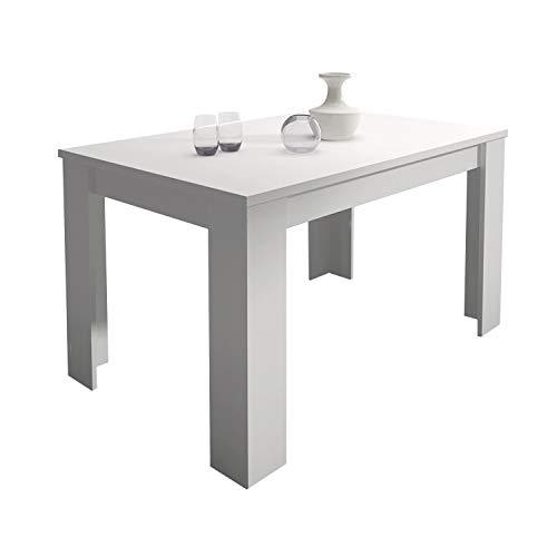 HomeSouth - Mesa de Comedor Extensible, Modelo Corfu Color Blanco, Medidas Mesa: 138 x 76 x 88 cm de Fondo